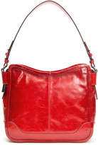 Frye Mel Glazed Leather Hobo Bag