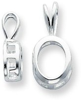 FindingKing Sterling Silver Oval Pendant Setting 4mm