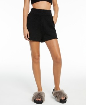 INC International Concepts Culpos x Inc Fuzzy High-Rise Shorts, Created for Macy's