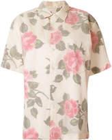 Maison Margiela tulle overlay rose print shirt