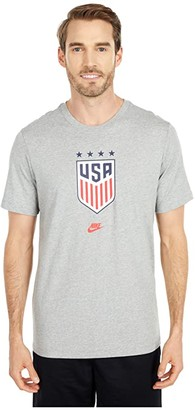 Nike Usa Tee 4Star Crest (Dark Grey Heather) Men's Clothing