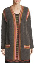 M Missoni Crochet-Trim Faux-Fur Knit Jacket