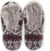 Dearfoams Fair Isle Knit Toasty Slipper Socks