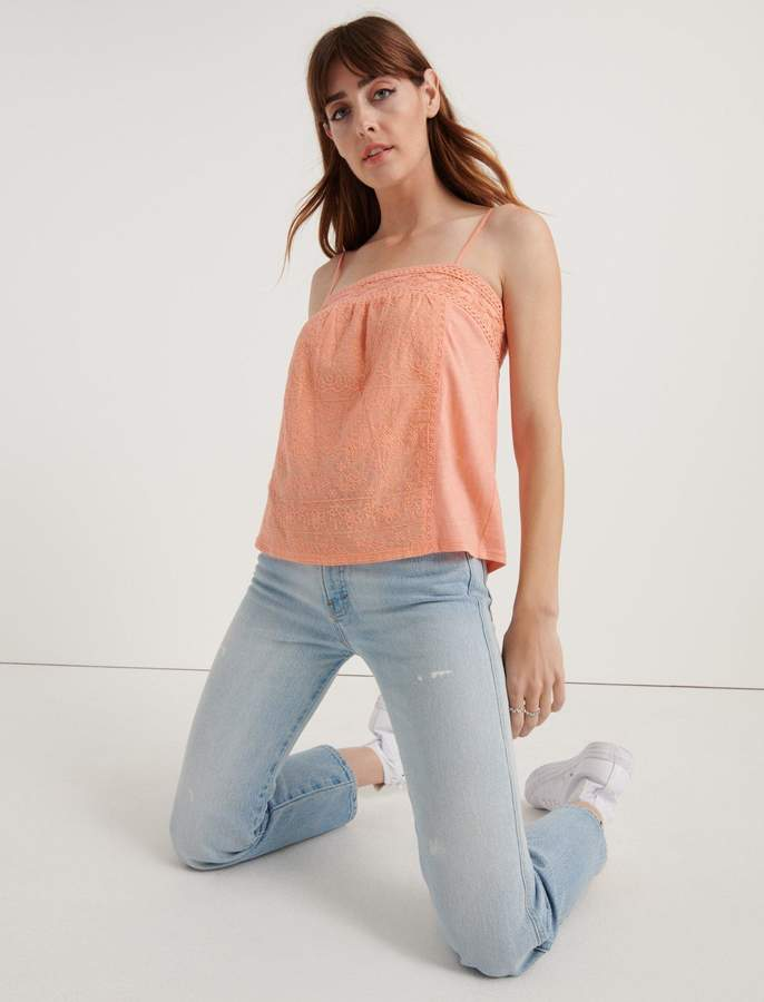 Lucky Brand Embroidered Cami