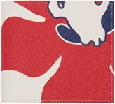 Thom Browne Tricolor Floral Outline Billfold Wallet