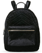 Imoshion Black Quilted Velvet Backpack