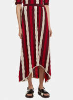 Marni Striped Knit Skirt in Red