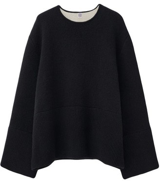 Totême Double-sided Cashmere Sweater - Black