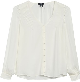 Paige Aurinda Long Sleeve Silk Blouse