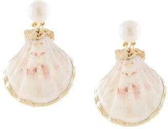 Mercedes Salazar Shell Pendant Earrings