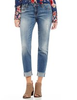 KUT from the Kloth Amy Ankle Straight Leg Destruction Detail Roll-Up Jeans