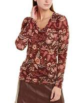 BCBGMAXAZRIA Women's Floral Toile Knit Top