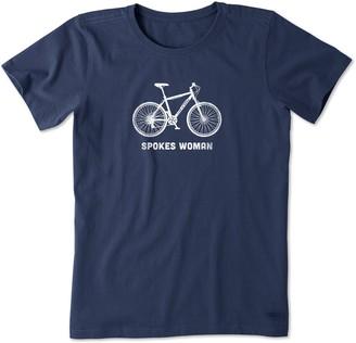 Life is Good Spokes Woman Crusher T-Shirt