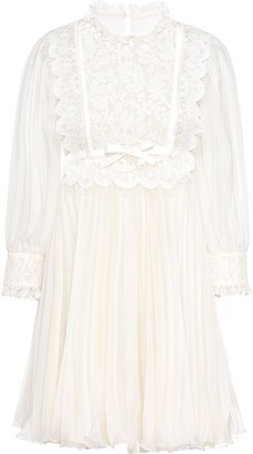 Miu Miu Technical Georgette dress
