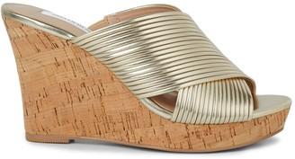 Saks Fifth Avenue Loft Metallic Cork Wedge Sandals