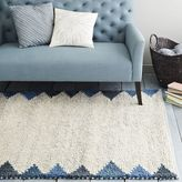 west elm Steven Alan Triangle Edge Wool Shag Rug - Blue Lagoon