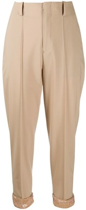 Undercover High Waisted Cropped Trousers