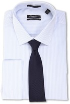 Kenneth Cole New York Non-Iron Regular Fit Stripe French Cuff Dress Shirt