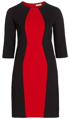 Joan Vass, Plus Size Colorblock Sheath Dress