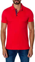 Jared Lang Short-Sleeve Cotton-Blend Polo Shirt, Red