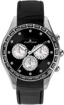 Jacques Lemans Capri Ladies Black Leather Strap Watch