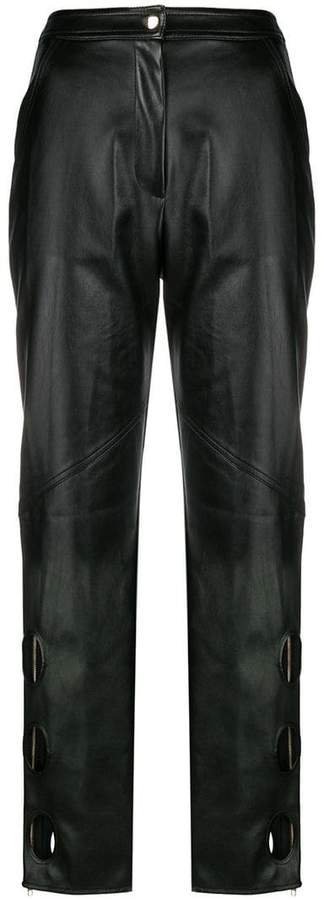 Self-Portrait cut-out detail trousers