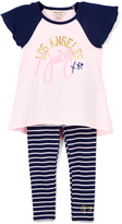 Juicy Couture Light Pink 'Los Angeles XXO' Tunic & Leggings - Girls