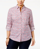 Karen Scott Plus Size Printed Shirt, Only at Macy's