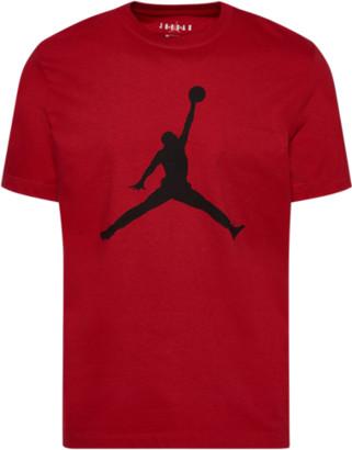 Jordan Jumpman Crew T-Shirt - Gym Red / Black