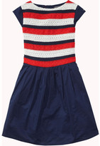 Tommy Hilfiger Embellished Rayon Stripe Dress Slvls