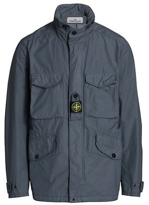 Stone Island Field Hooded Zip-Up Jacket