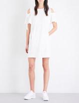 Izzue Cold-shoulder cotton-jersey dress