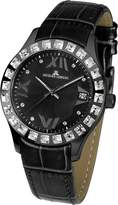 Jacques Lemans Rome Women's 37mm Leather Mineral Glass Crystals Watch 1-1571P
