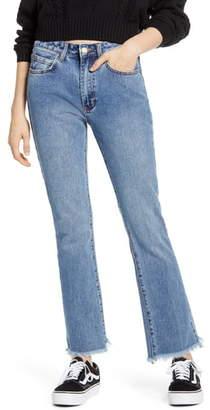 Billabong Cheeky Step Hem Crop Flare Jeans