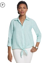 Chico's Effortless Linen Striped Lydia Shirt