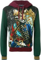 Dolce & Gabbana military leopard printed hooded