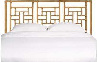 David Francis Furniture Ohana Headboard - Camel Brown Queen