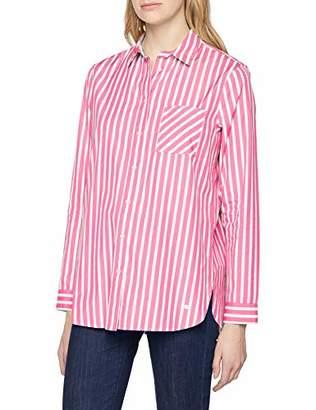 Brax Women's Victoria Cotton Stripes Gestreifte Bluse Mit Brusttasche Blouse, (Pink 47), (Size: 38)