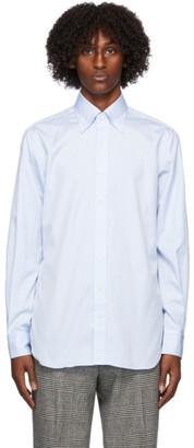 Husbands Blue Cotton Poplin Trento Shirt