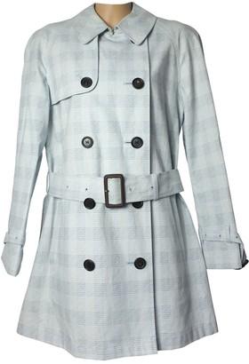Aquascutum London Blue Cotton Trench Coat for Women