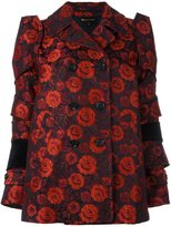 Comme des Garcons roses jacquard jacket - women - Acrylic/Polyester/Cupro/Wool - L