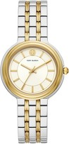 Tory Burch BAILEY WATCH, TWO-TONE STAINLESS STEEL/GOLD TONE/IVORY, 34 MM