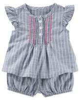 Osh Kosh 2-Piece Striped Sun Short Set