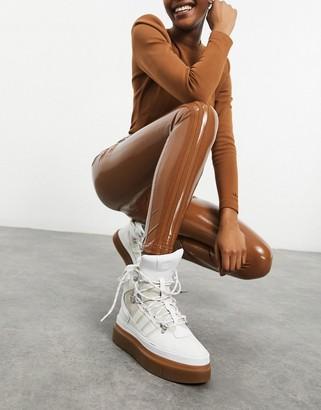 Ivy Park adidas x latex pants in wild brown