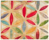 Pottery Barn Gold Leaf Trellis Canvas 1