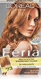 L'Oreal Feria Multi-Faceted Shimmering Color, Dark Golden Blonde [73] (Warmer) 1 ea (Pack of 6)