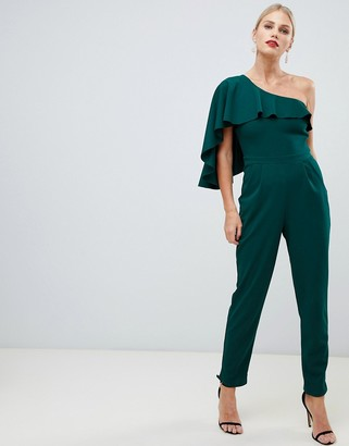 City Goddess one sleeve wide leg jumpsuit