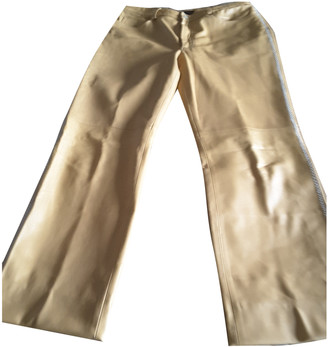Mulberry Camel Leather Trousers