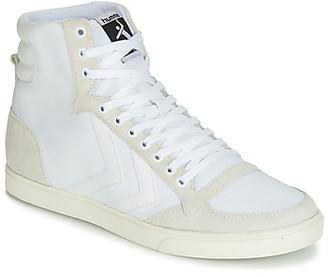 Hummel TEN STAR TONAL HIGH women's Shoes (High-top Trainers) in White
