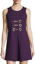 Julie Brown Felicia Sleeveless A-Line Dress, Purple